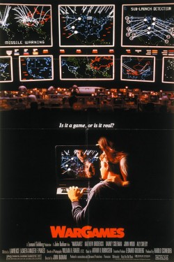 고등학생 헤커로 인해 핵전쟁 위험에 빠진다는 내용의 1983년 영화 워 게임의 포스터 - WARGAMES 제공
